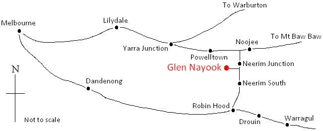 How to Get to Glen Nayook Map